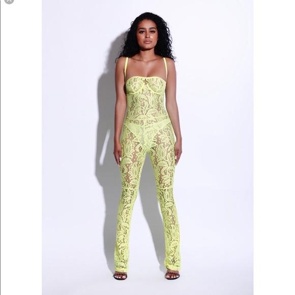 01e6aaeaad9c Matte brand neon lace jumpsuit. M 5bec768ac89e1deb7dbc1570